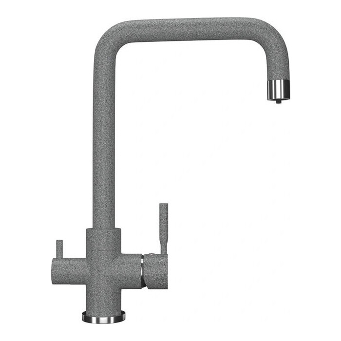 Смеситель для кухни Ulgran U-019 подключения фильтра, темно-серый (U-019-309)