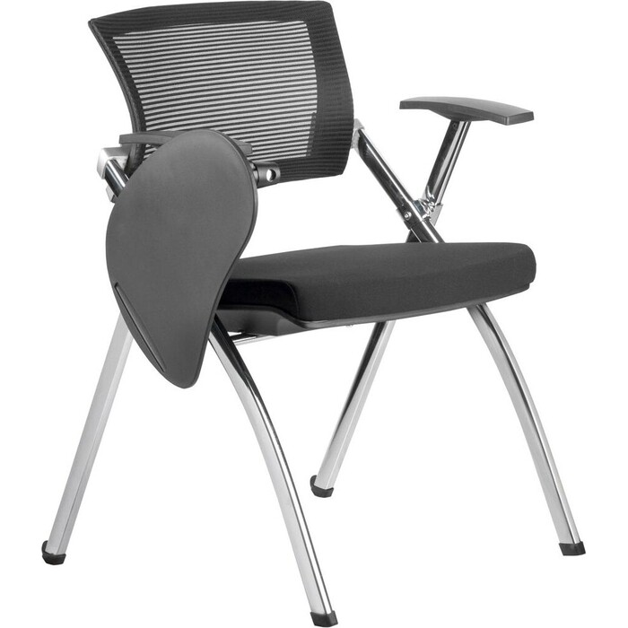 Кресло Riva Chair RCH 462TEC черное складное хром с пюпитром кресло riva chair 462te чёрное складное с пюпитром