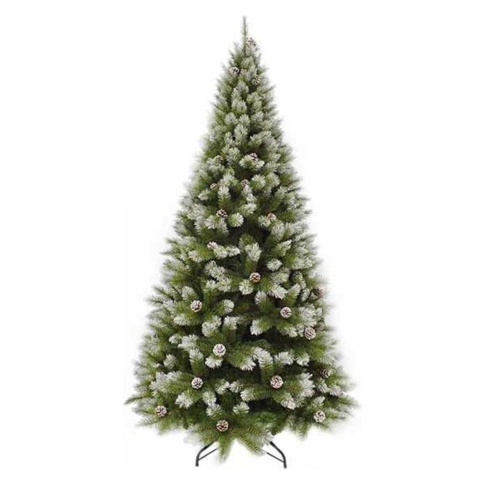 Елка искусственная Triumph Tree Женева 230 см С Шишками Заснеженная