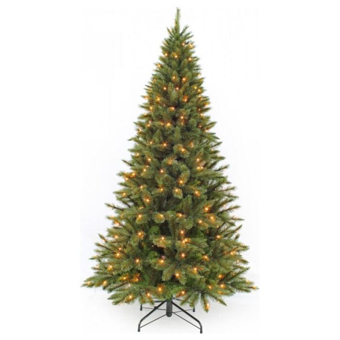 Ель Triumph Tree Лесная Красавица Стройная 215 см 256 Ламп Зеленая