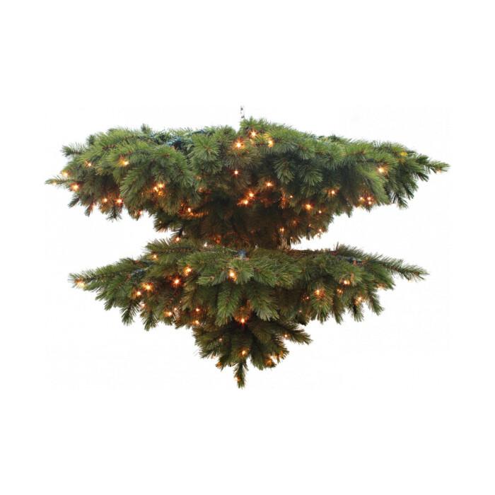 Венок-люстра Triumph Tree Лесная Красавица O 102см 128 Ламп Зеленая