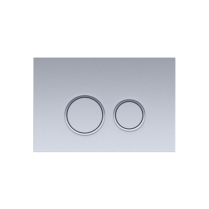 Кнопка смыва Aquatek R хром матовый, ободок (KDI-0000005)