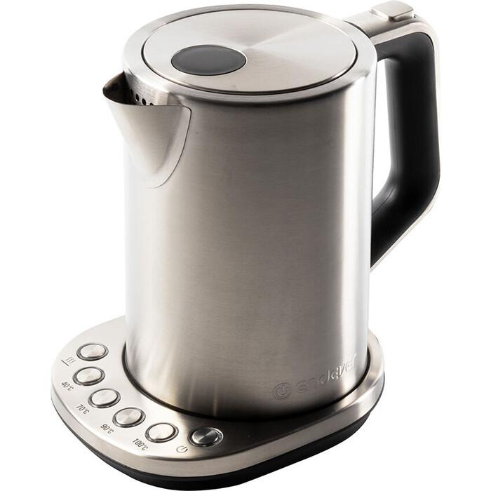 Чайник электрический Endever Skyline KR-240S, стальной/черный