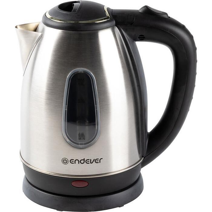 Чайник электрический Endever Skyline KR-220S, стальной/черный