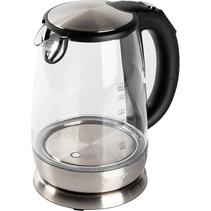 Чайник электрический Endever Skyline KR-331G, стальной/черный
