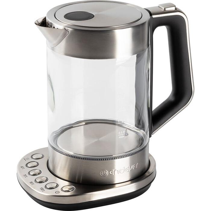 Чайник электрический Endever Skyline KR-336G, черный/стальной