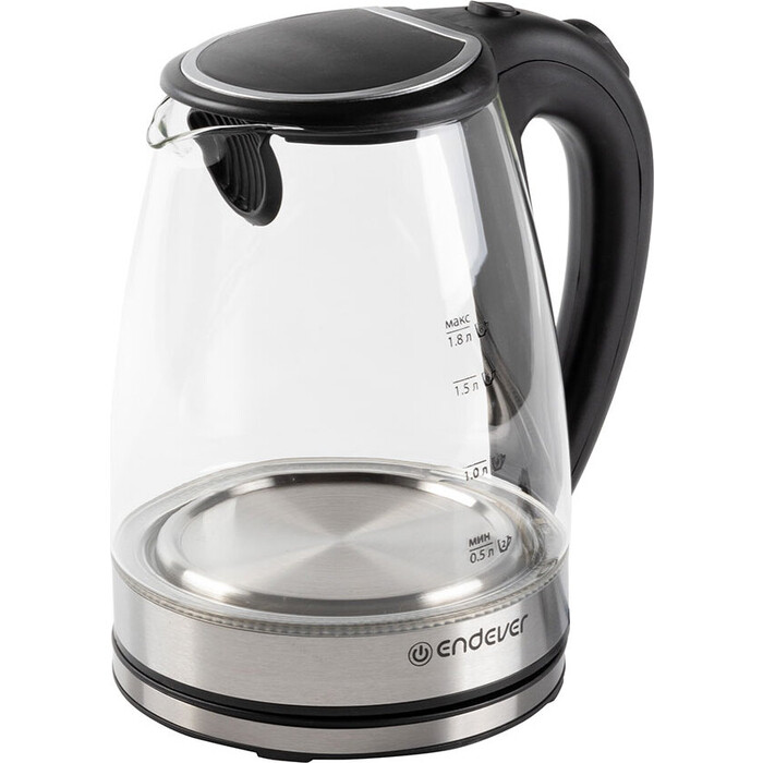 Чайник электрический Endever Skyline KR-305G, сталь/стекло