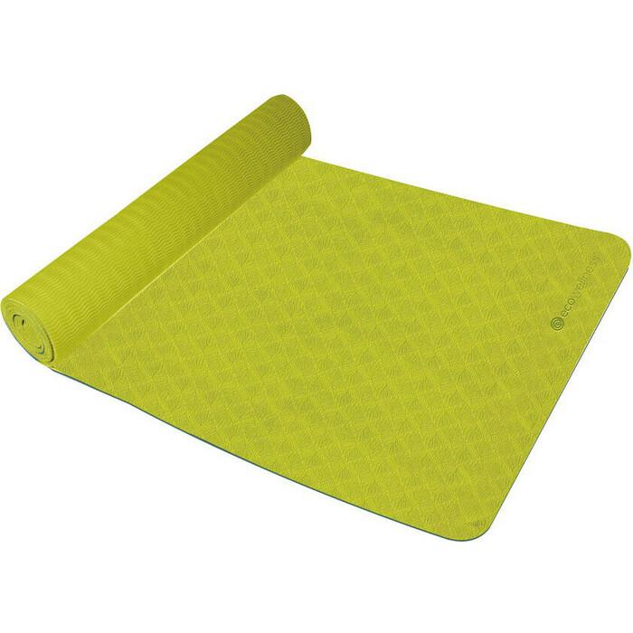 Коврик для йоги Ecowellness зеленый, TPE (0.4см*183см*61см)