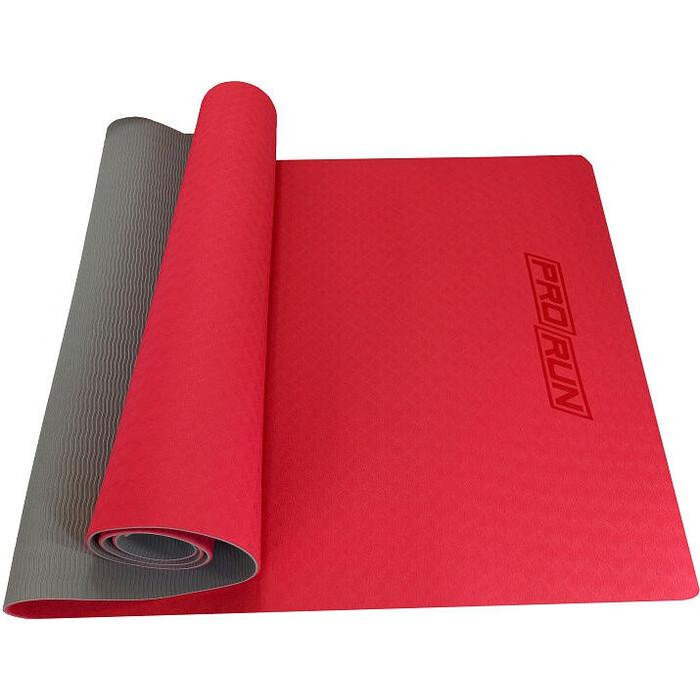 Коврик для йоги ProRun красный, TPE (0.4см*183см*60см)
