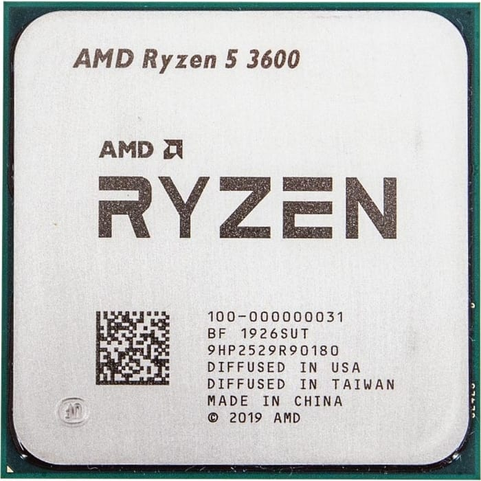 Процессор AMD Ryzen 5 3600 OEM (3.6GHz up to 4.2GHz/6x512Kb+32Mb, 6C/12T, Matisse, 7nm, 65W, unlocked, AM4)