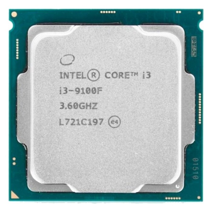 Процессор Intel Core i3-9100F Coffee Lake OEM (3.60Ггц, 6МБ, Socket 1151v2)
