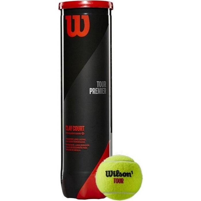 Мяч для большого тенниса Wilson Tour Premier Can Clay арт. WRT119600 одобр. ITF 4 мяча