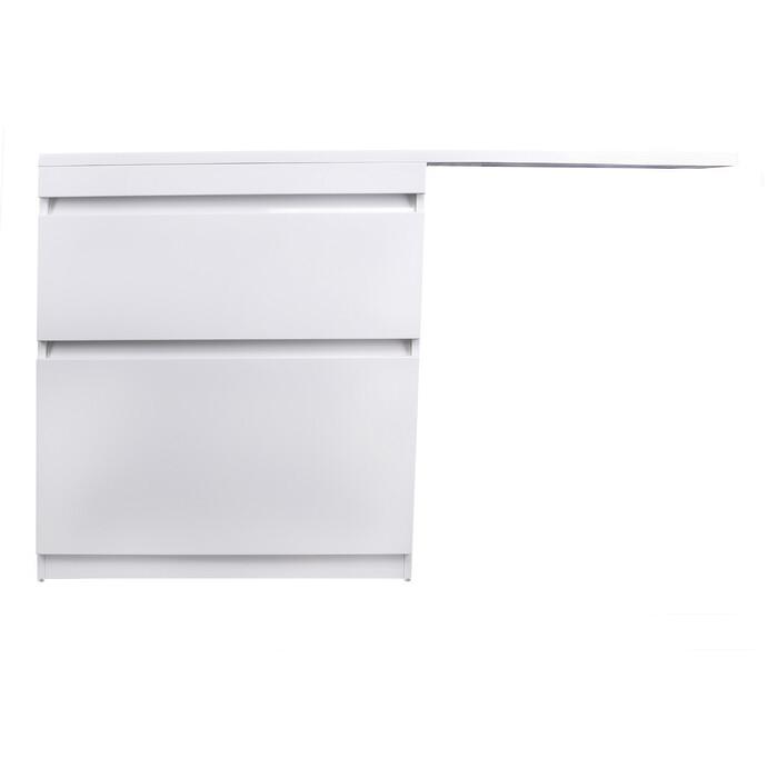 Тумба под раковину Style line Даллас Люкс 77 (140) напольная, стиральную машину, белая (2000949234304)