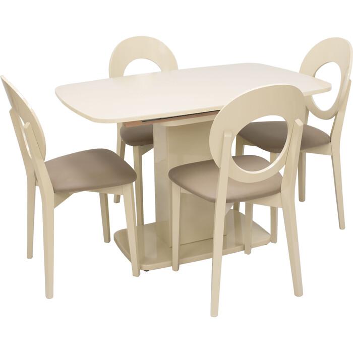 Набор мебели для кухни Leset Денвер 1Р капучино лак/стекло