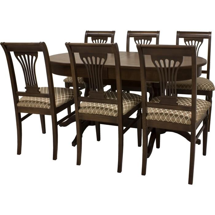 Набор мебели для кухни Leset Каролина 1Р орех шоколадный