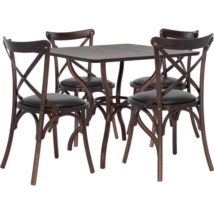 Набор мебели Leset для кухни Тор квадратный темный орех