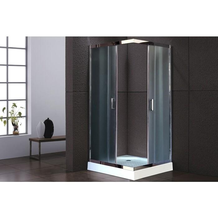 Душевой уголок Royal Bath HPD-C-CH 90х90х185, рифленое (RB100 HPD-T-CH)