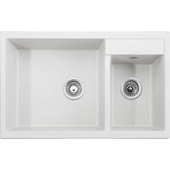 Кухонная мойка Kaiser Granit KG2M-8050 White белая (KG2M-8050-W)