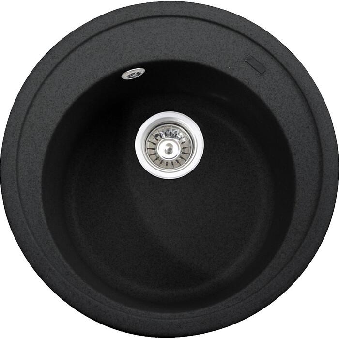 Кухонная мойка Kaiser Granit KGM-510 Black Pearl черный мрамор (KGM-510-BP)