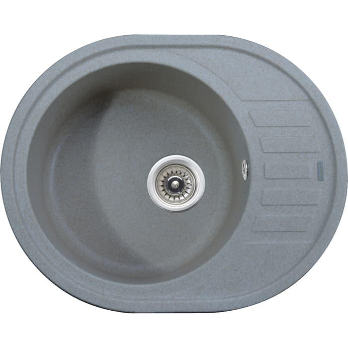 кухонная мойка kaiser kgmo 6250 g grey Кухонная мойка Kaiser Granit KGMO-6250 Grey серая (KGMO-6250-G)
