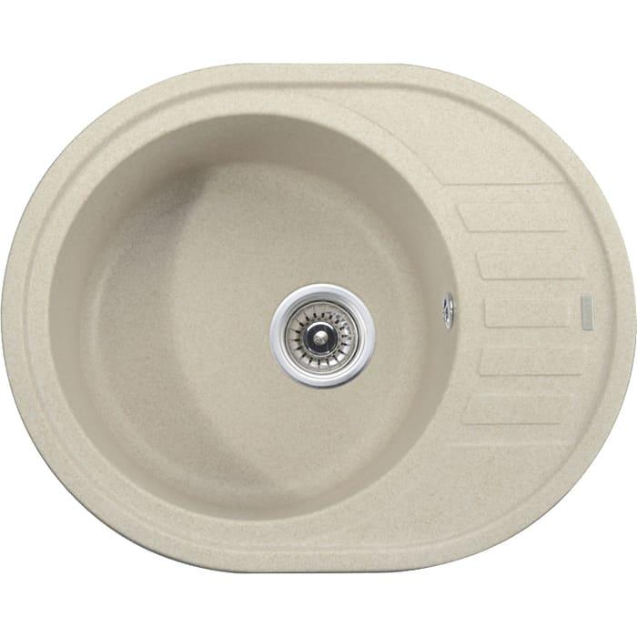 кухонная мойка kaiser kgmo 6250 g grey Кухонная мойка Kaiser Granit KGMO-6250 Sand Beige песочный мрамор (KGMO-6250-SB)