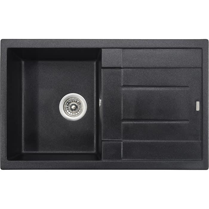 Кухонная мойка Kaiser Granit KGM-7850 Black Pearl черный мрамор (KGM-7850-BP)