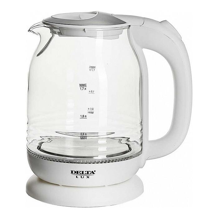 Чайник электрический Delta LUX DL-1206W чайник электрический delta dl 1333