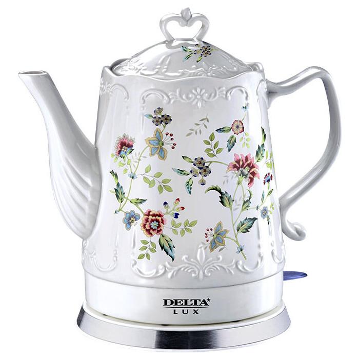 Чайник электрический Delta LUX DL-1239 кофеварка delta lux dl 8158к