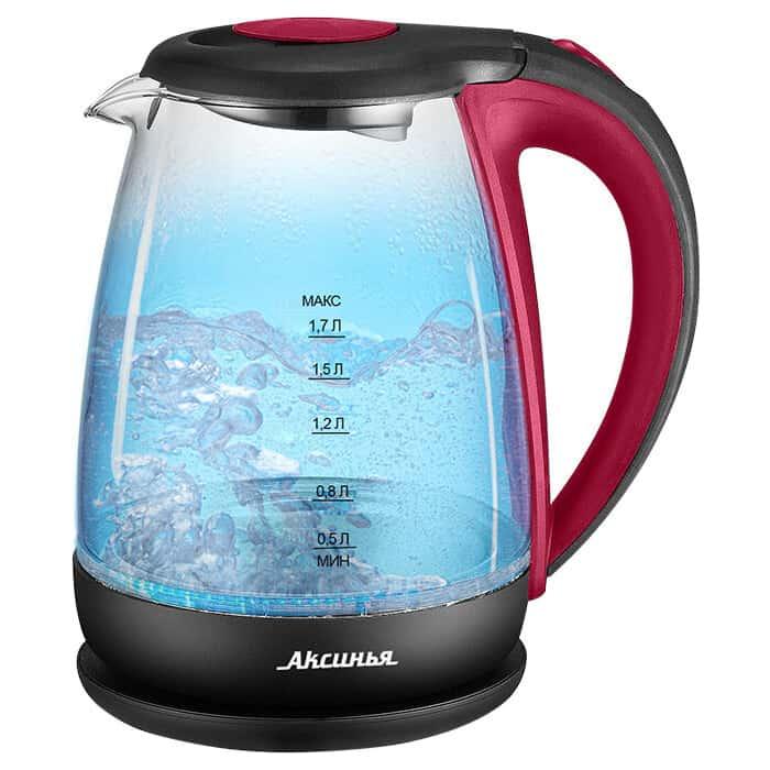 Чайник электрический Аксинья КС-1040 красный с черным