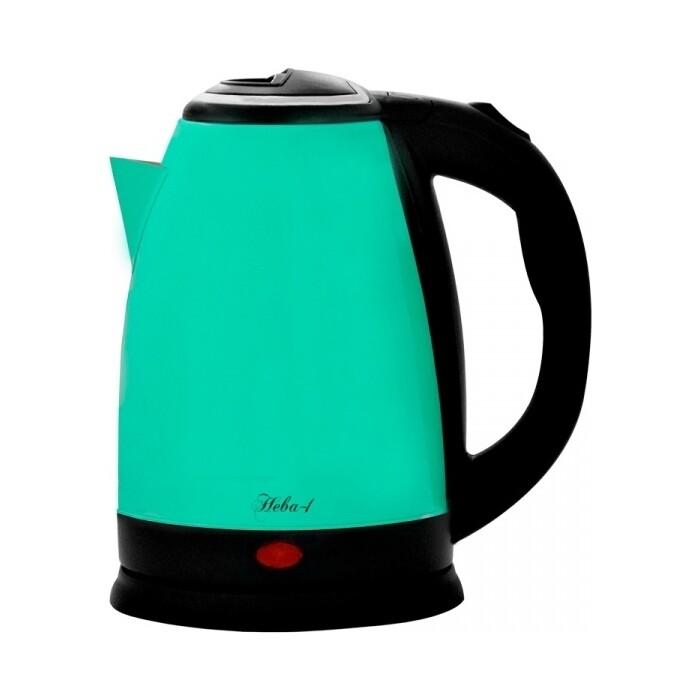 Чайник электрический Великие реки Нева-1 зеленый чайник электрический великие реки нева 2 1 8л 2000вт белый корпус нержавеющая сталь