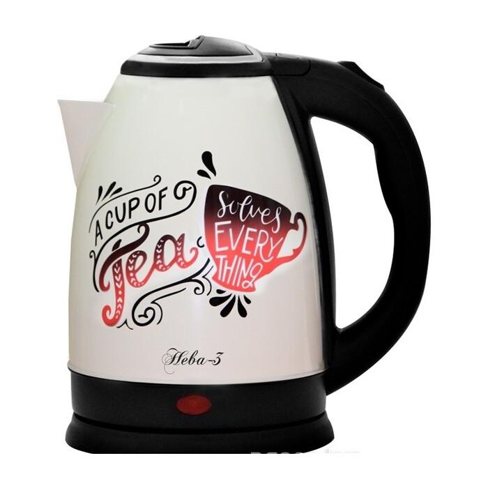 Чайник электрический Великие реки Нева-3 чайник электрический великие реки нева 2 1 8л 2000вт белый корпус нержавеющая сталь