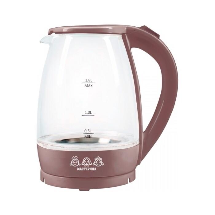 Чайник электрический Мастерица EK-1801G капучино