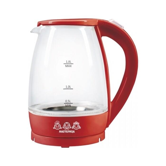 Чайник электрический Мастерица EK-1801G рубин