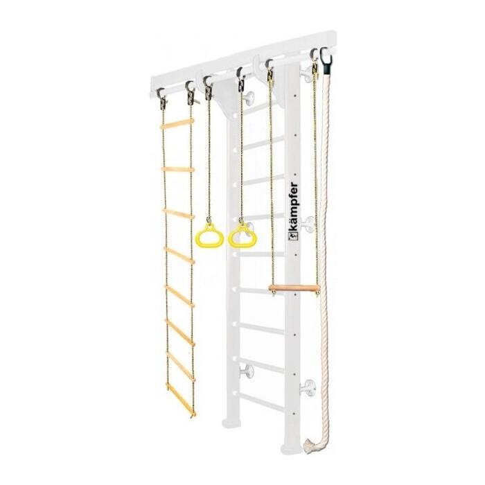 Детский спортивный комплекс Kampfer Wooden Ladder Wall (№6 Жемчужный Стандарт белый)