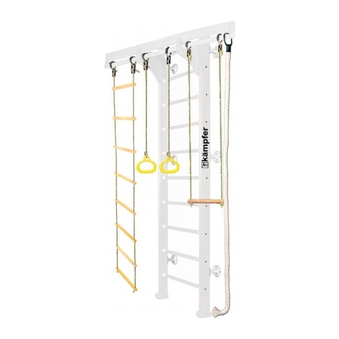 Шведская стенка Kampfer Wooden Ladder Wall №6 Жемчужный Стандарт белый