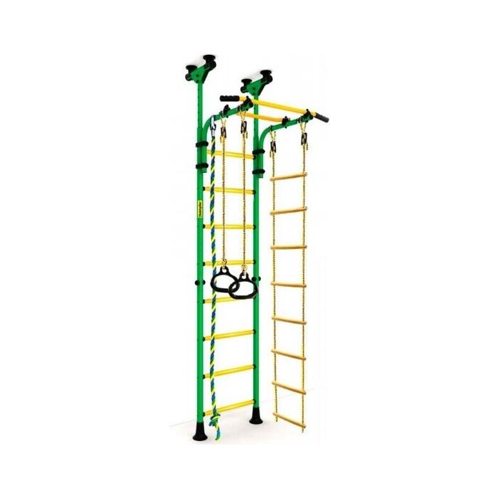 Шведская стенка Kampfer Strong kid Ceiling зеленый/желтый Высота +52 см