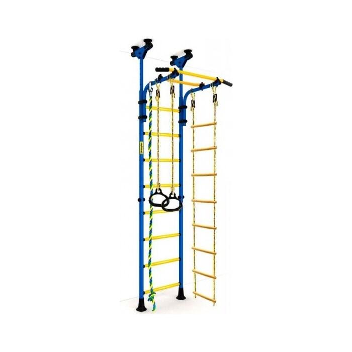 Шведская стенка Kampfer Strong kid Ceiling синий/желтый Высота +52 см