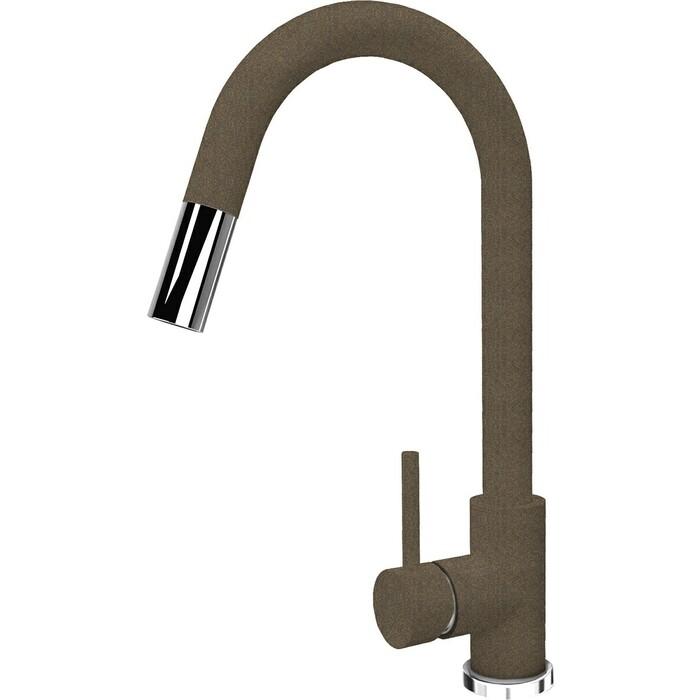 Смеситель для кухни Florentina Вита FL выдвижной излив, коричневый Fg (313.03H.1223.105)