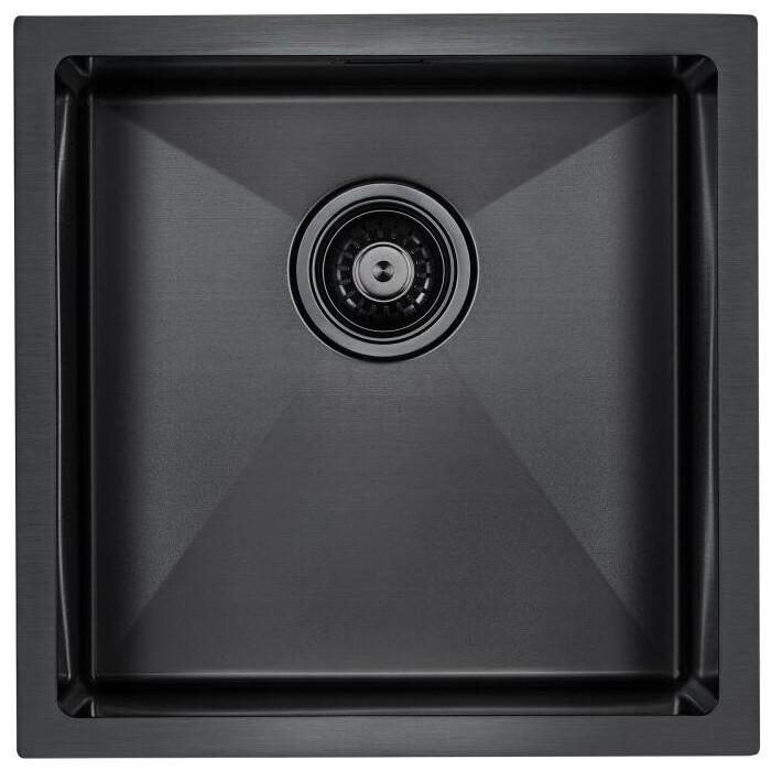 Кухонная мойка Paulmark Aller вороненая сталь PVD (PM904444-GM)