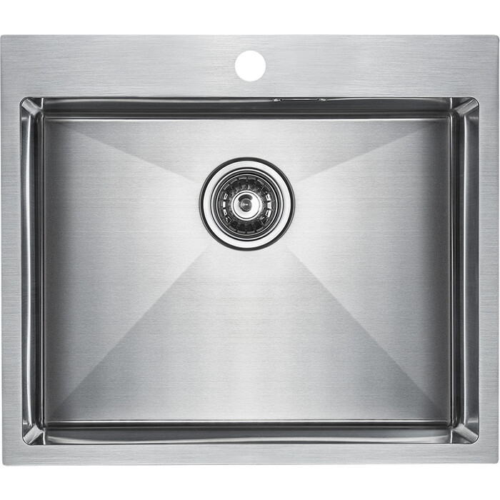 Кухонная мойка Paulmark Isar нержавеющая сталь (PM805951-BS)