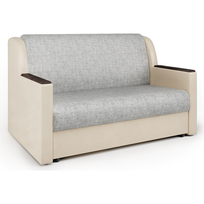 Фото - Шарм-Дизайн Диван-кровать Аккорд Д 120 экокожа беж и серый шенилл диван кровать шарм дизайн аккорд д 160 экокожа беж и шенилл беж