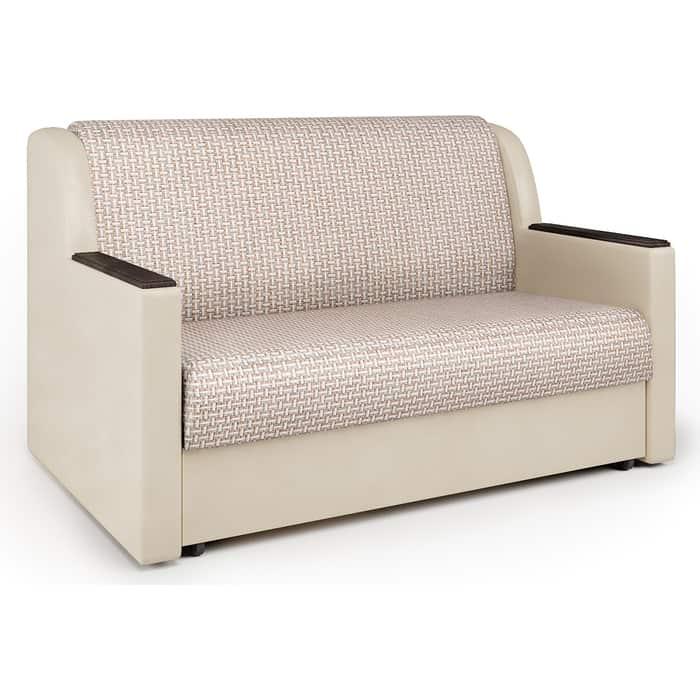 Шарм-Дизайн Диван-кровать Аккорд Д 140 Корфу беж и экокожа