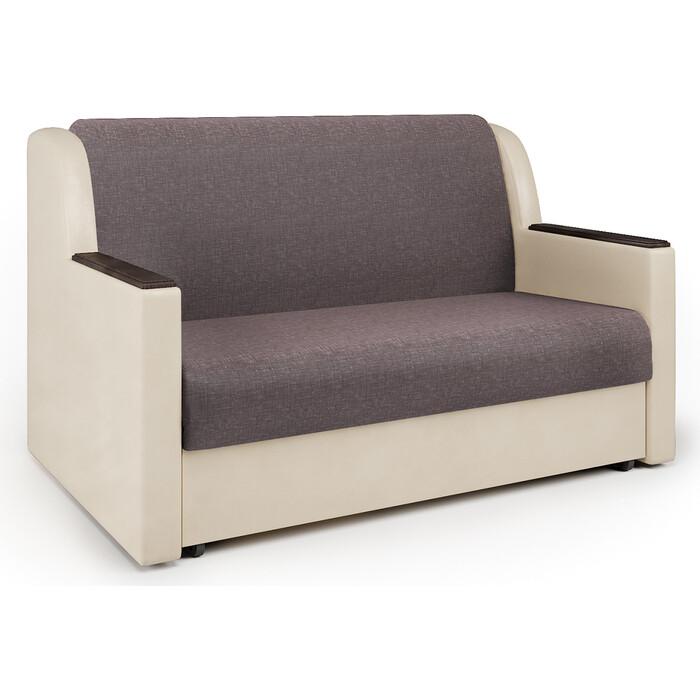 Шарм-Дизайн Диван-кровать Аккорд Д 140 рогожка латте и экокожа беж кресло кровать шарм дизайн аккорд д рогожка шоколад и экокожа беж