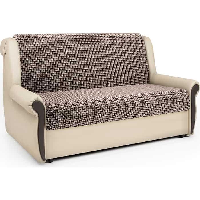Шарм-Дизайн Диван-кровать Аккорд М 100 Корфу коричневый и экокожа беж