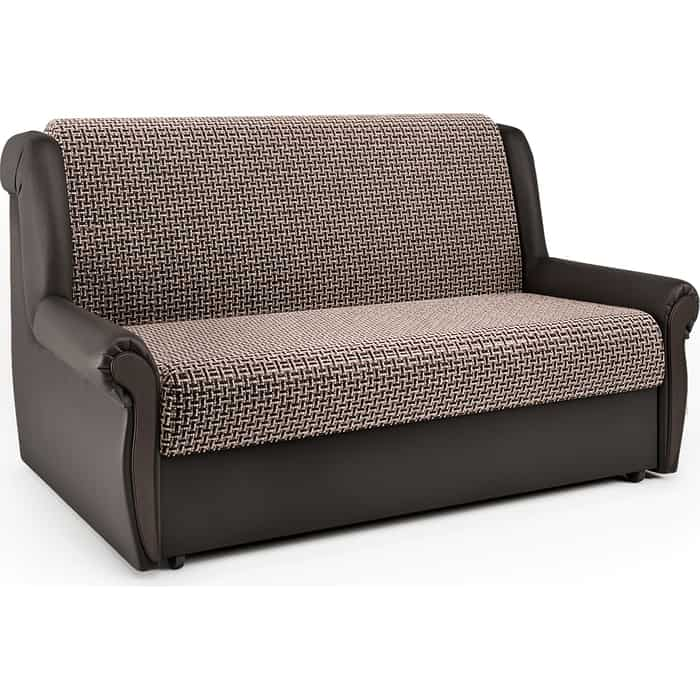 Шарм-Дизайн Диван-кровать Аккорд М 100 Корфу коричневый и экокожа шоколад