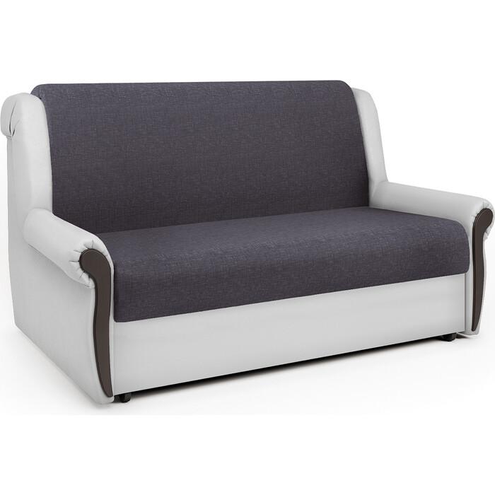 Шарм-Дизайн Диван-кровать Аккорд М 100 серая рогожка и экокожа белая