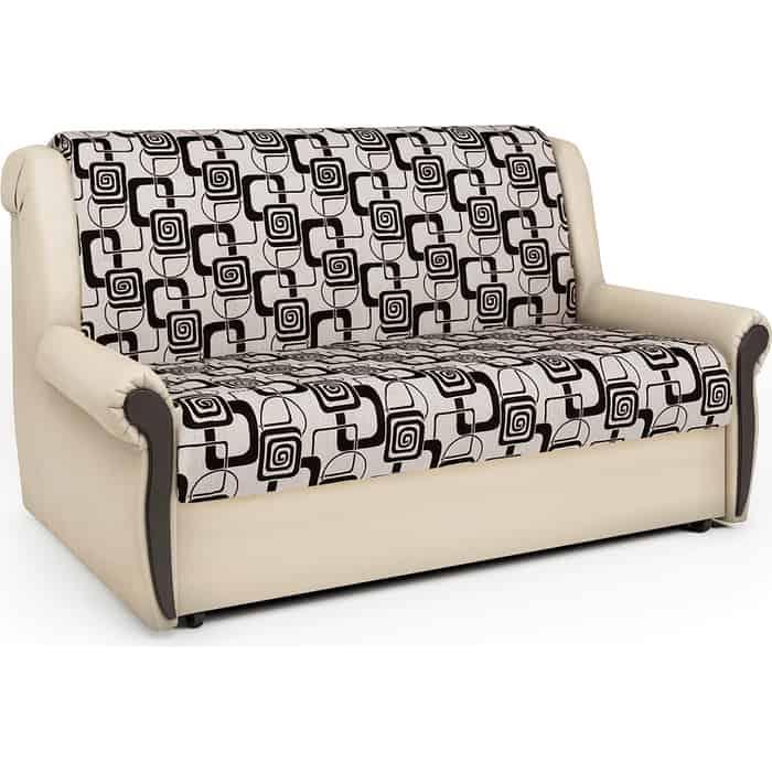 Шарм-Дизайн Диван-кровать Аккорд М 100 экокожа беж и ромб