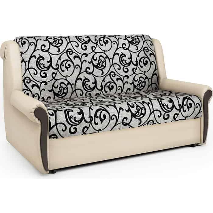 Шарм-Дизайн Диван-кровать Аккорд М 100 экокожа беж и узоры