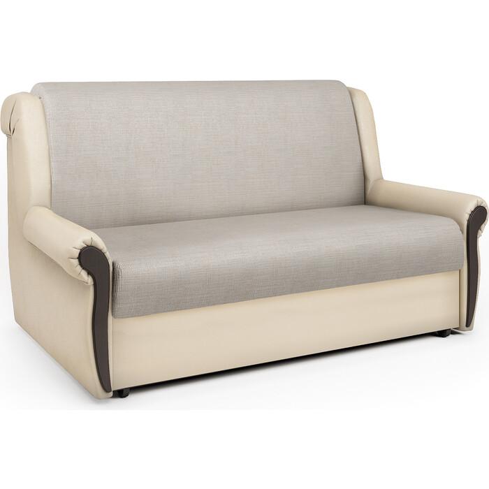 Шарм-Дизайн Диван-кровать Аккорд М 100 экокожа беж и шенилл