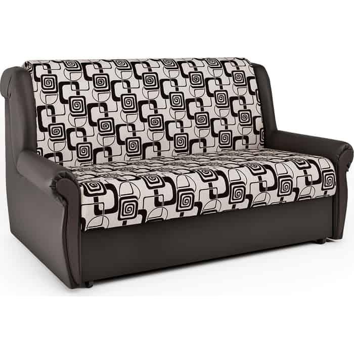 Шарм-Дизайн Диван-кровать Аккорд М 100 экокожа шоколад и ромб